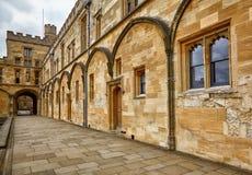 Tom Quad Oxford, Großbritannien Universität von Oxford england lizenzfreie stockfotos