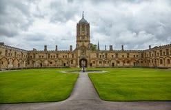 Tom Quad Universidade de Oxford inglaterra foto de stock