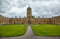 Tom Quad Università di Oxford l'inghilterra fotografia stock