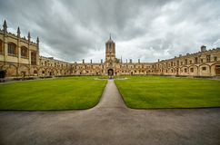 Tom Quad Universität von Oxford england lizenzfreies stockfoto