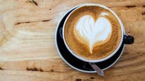 Tom quente do marrom da arte do latte do café Imagens de Stock