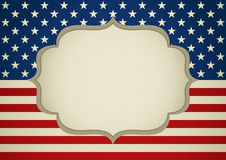 Tom ram på den Amerika gradbeteckningen royaltyfri illustrationer