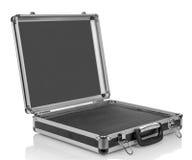 Tom resväska för silverstål arkivfoto