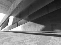 Tom ruminre för mörk källare Betongväggar Fotografering för Bildbyråer