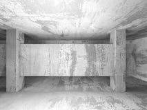 Tom ruminre för mörk källare Betongväggar arkitektur vektor illustrationer