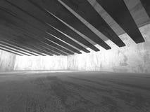 Tom ruminre för mörk källare Betongväggar arkitektur Royaltyfri Foto