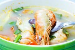 Tom sötpotatis Kung (thailändsk kokkonst) Arkivfoto