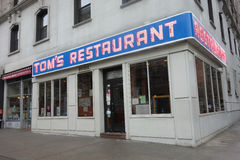 Tom's Restaurant. A diner in the Upper West Side of New York, made famous by the sitcom Seinfeld Stock Photos