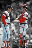 Tom Seaver και Carlton Fisk Chicago White Sox στοκ φωτογραφία