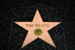 Tom Selleck Star on the Hollywood Walk of Fame Royalty Free Stock Photography