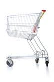 tom shopping för vagn arkivfoto