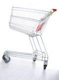 tom shopping för vagn fotografering för bildbyråer