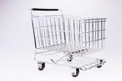 tom shopping för vagn ben för bakgrundspåsebegrepp som shoppar den vita kvinnan Royaltyfri Bild