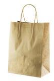 Tom shoppingpåse för brunt papper med handtag Arkivfoto