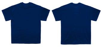 Tom sikt för framdel och för baksida för mall för marin för T-skjortafärg arkivfoto