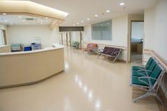 Tom sjuksköterskastation Arkivbild