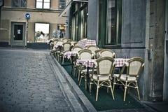 tom sommar för cafe Royaltyfri Foto