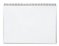 Tom spiral notepad eller anteckningsbok som isoleras på vit bakgrund Fotografering för Bildbyråer