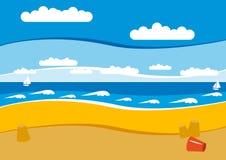 tom strand Arkivbild