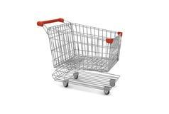 Tom supermarketvagn Arkivfoton