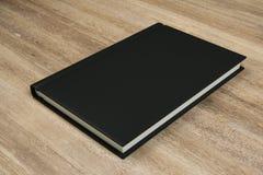 Tom svart bok stock illustrationer