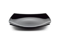 tom svart maträtt Fotografering för Bildbyråer
