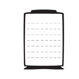 Tom svart ram på en vit bakgrund med listan Arkivbild