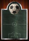 Tom svart tavla för fotbollsport Arkivbild