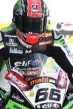 Tom Sykes #66 auf Kawasaki ZX-10R Kawasaki Racing Team Superbike WSBK Lizenzfreie Stockbilder