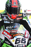 Tom Sykes #66 em Kawasaki ZX-10R Kawasaki Racing Team Superbike WSBK Imagens de Stock Royalty Free