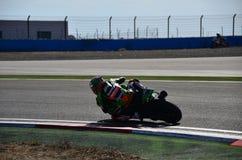 Tom Sykes Kawasaki Racing Team Royaltyfria Bilder