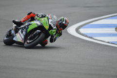 Tom sykes on the kawasaki, WSBK 2012 stock image