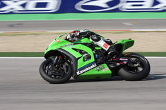 Tom Sykes - Kawasaki zx-10R - Rennend Team Kawasaki Stock Foto
