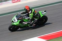 Tom Sykes - Kawasaki zx-10R - Rennend Team Kawasaki Royalty-vrije Stock Foto's