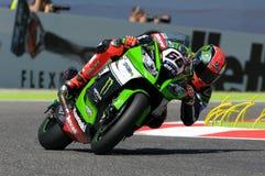 Tom Sykes Kawasaki ZX-10R Kawasaki Racing Team SBK Imola 2015 images stock