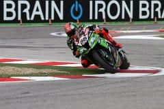 Tom Sykes #66 på Kawasaki ZX-10R Kawasaki Racing Team Superbike WSBK Fotografering för Bildbyråer