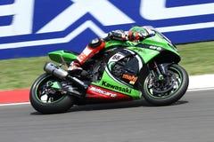 Tom Sykes #66 på Kawasaki ZX-10R Kawasaki Racing Team Superbike WSBK Arkivbilder