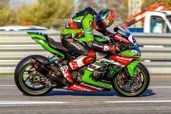 Tom Sykes-Pilot von Superbikes SBK Lizenzfreies Stockfoto