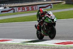 Tom Sykes #66 su Kawasaki ZX-10R Kawasaki Racing Team Superbike WSBK immagini stock