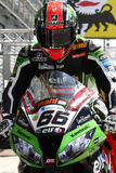Tom Sykes #66 su Kawasaki ZX-10R Kawasaki Racing Team Superbike WSBK Fotografia Stock