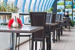 tom tabell för cafe Royaltyfri Fotografi
