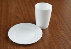 tom tabell för glass platta Royaltyfria Bilder
