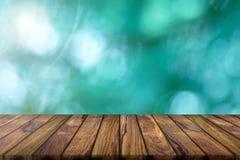 Tom teakträträbakgrund och abstrakt suddig bakgrund Natu Royaltyfria Bilder