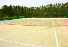 Tom tennisbana Royaltyfri Fotografi