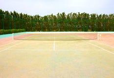 Tom tennisbana Arkivfoton