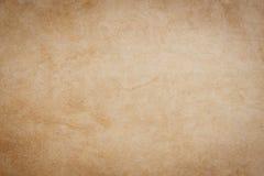 Tom textur och bakgrund för brunt papper för grunge med utrymme fotografering för bildbyråer