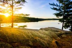 Tom Thomson Lake, parque provincial do Algonquin Fotografia de Stock