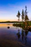 Tom Thomson Lake. Sunset on Tom Thomson Lake Algonquin Park Royalty Free Stock Photography