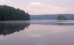Tom Thomson Lake Vista. Tom Thomson Lake in Algonquin Provincial Park, Ontario, Canada. Shot in the early morning light Royalty Free Stock Photo