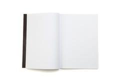 Tom tidskrift för vit sida fotografering för bildbyråer